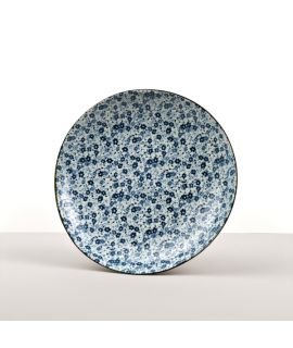 Kulatý talíř Blue Daisy 23 cm