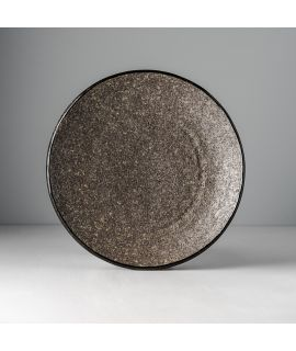 Kulatý talíř Earth Black 24 cm