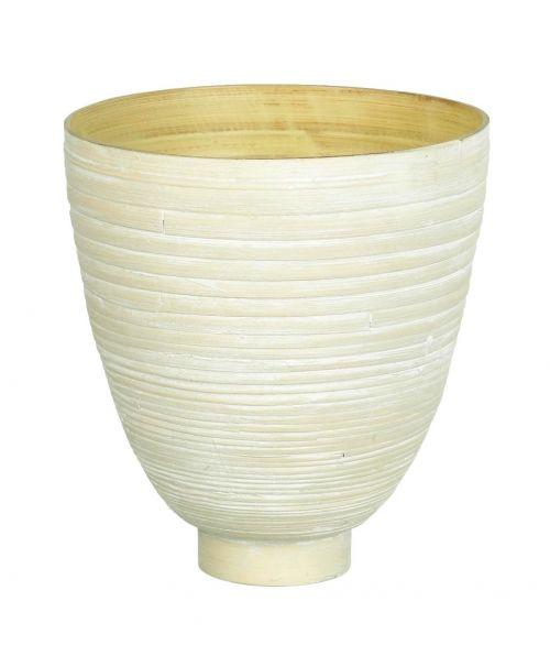 Bambusová váza Spun bílá