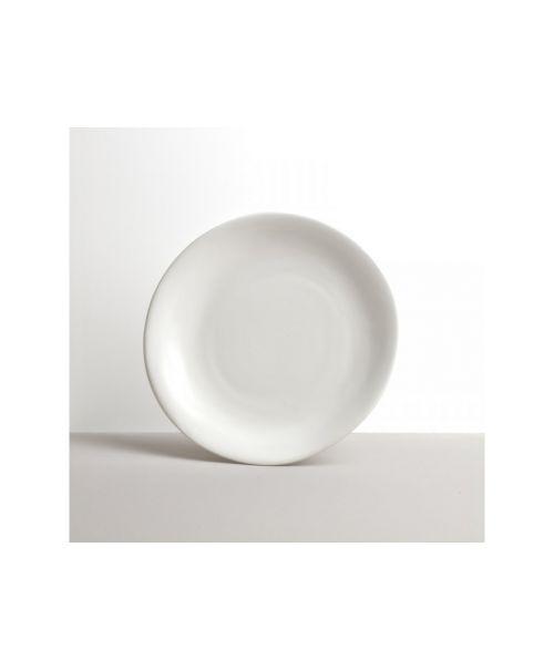 Bílý nepravidelný kulatý talíř