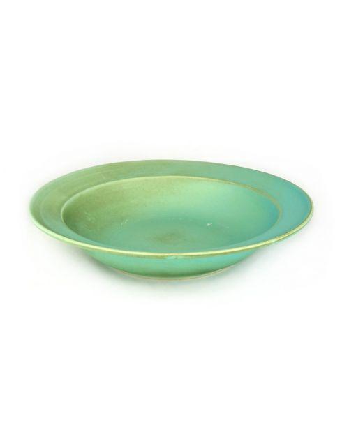 Hluboký talíř modrozelený