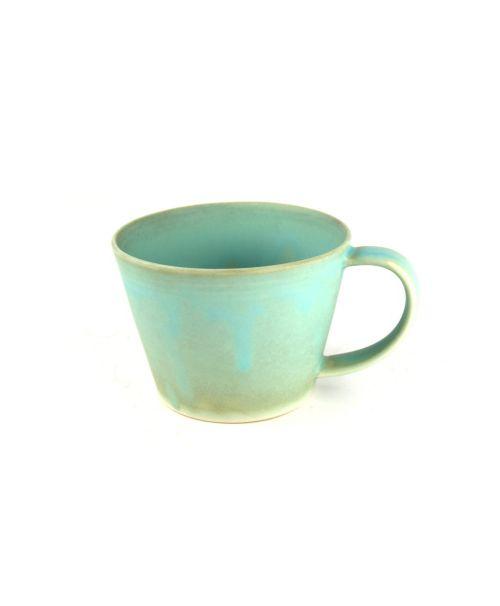 Hrnek na čaj modrozelený